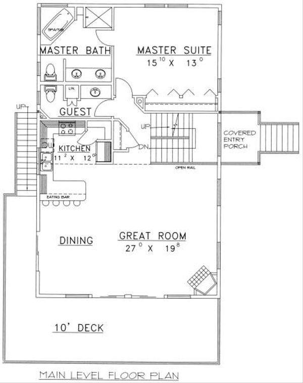 Bungalow Floor Plan - Main Floor Plan Plan #117-571