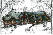 Traditional Style House Plan - 4 Beds 5 Baths 4551 Sq/Ft Plan #921-5 Exterior - Front Elevation