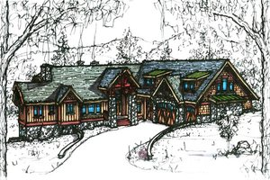 Traditional Exterior - Front Elevation Plan #921-5