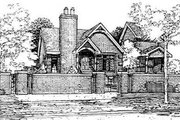 European Style House Plan - 3 Beds 2.5 Baths 1963 Sq/Ft Plan #50-225 Exterior - Front Elevation