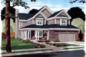 Modern Exterior - Front Elevation Plan #312-876