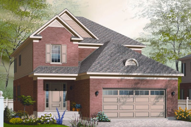 Traditional Style House Plan - 3 Beds 2.5 Baths 2305 Sq/Ft Plan #23-2254 Exterior - Front Elevation