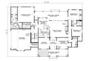 Southern Style House Plan - 4 Beds 3 Baths 2373 Sq/Ft Plan #17-2149 Floor Plan - Main Floor