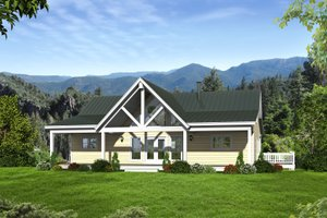 Country Exterior - Front Elevation Plan #932-361