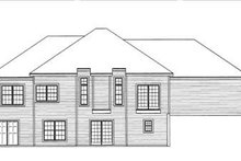 Home Plan - Traditional Exterior - Rear Elevation Plan #31-115