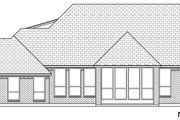 European Style House Plan - 4 Beds 3 Baths 2766 Sq/Ft Plan #84-592 Exterior - Rear Elevation