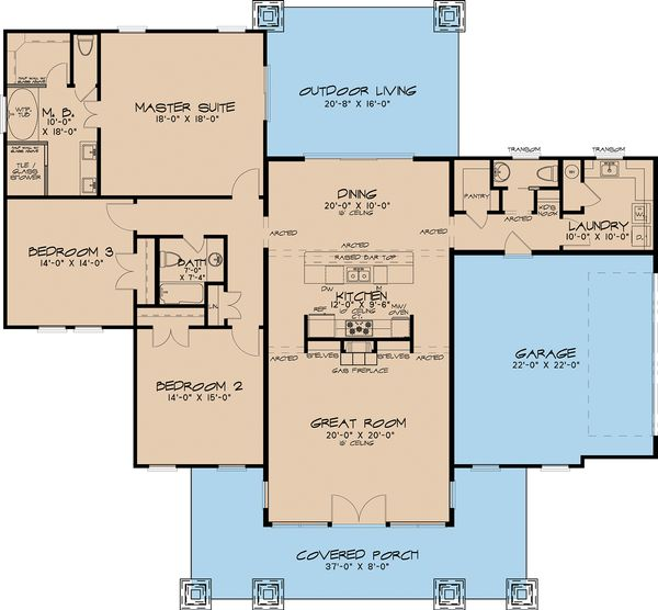 Home Plan - Modern Floor Plan - Main Floor Plan #17-2591