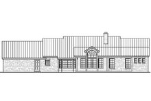 Ranch Exterior - Rear Elevation Plan #935-2