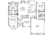Traditional Style House Plan - 4 Beds 3 Baths 2072 Sq/Ft Plan #927-28 Floor Plan - Main Floor