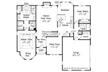 Traditional Floor Plan - Main Floor Plan Plan #927-28