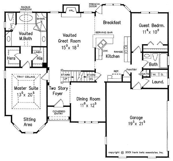 Traditional Floor Plan - Main Floor Plan Plan #927-28