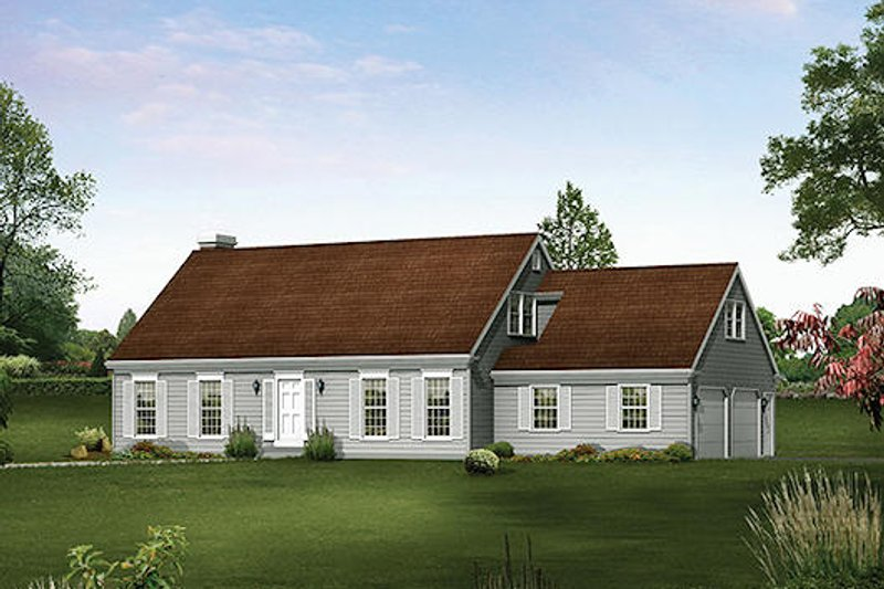 Colonial Style House Plan - 4 Beds 2.5 Baths 2610 Sq/Ft Plan #57-537 Exterior - Front Elevation