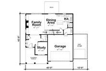 Craftsman Floor Plan - Main Floor Plan Plan #20-2345