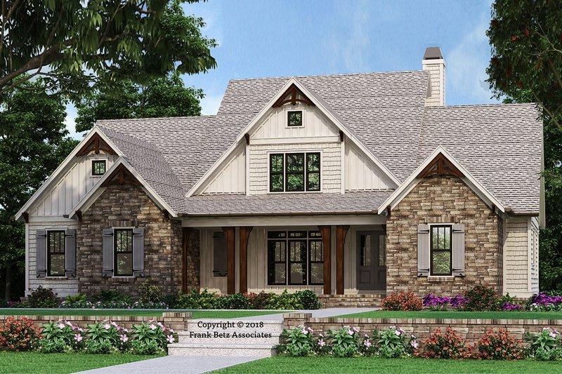 Architectural House Design - Farmhouse Exterior - Front Elevation Plan #927-987
