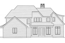 European Exterior - Rear Elevation Plan #46-486