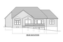 Ranch Exterior - Rear Elevation Plan #1010-235