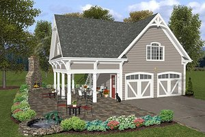 Architectural House Design - Traditional Exterior - Front Elevation Plan #56-569
