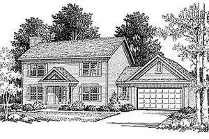 Home Plan - Colonial Exterior - Front Elevation Plan #70-150