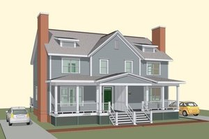 Traditional Exterior - Front Elevation Plan #79-243