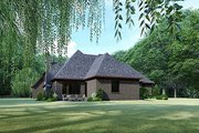 Contemporary Style House Plan - 3 Beds 3.5 Baths 3020 Sq/Ft Plan #17-3422 Exterior - Rear Elevation