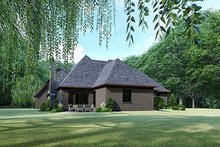 House Plan Design - Contemporary Exterior - Rear Elevation Plan #17-3422