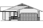Ranch Style House Plan - 2 Beds 1 Baths 840 Sq/Ft Plan #515-13