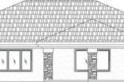 Adobe / Southwestern Style House Plan - 5 Beds 2 Baths 2434 Sq/Ft Plan #24-266 Exterior - Rear Elevation