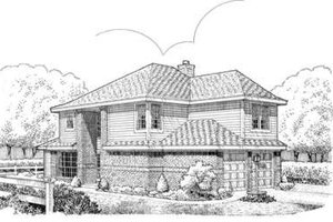 Home Plan Design - Modern Exterior - Front Elevation Plan #410-300
