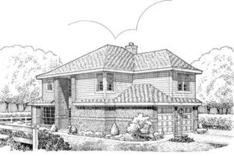 Modern Exterior - Front Elevation Plan #410-300