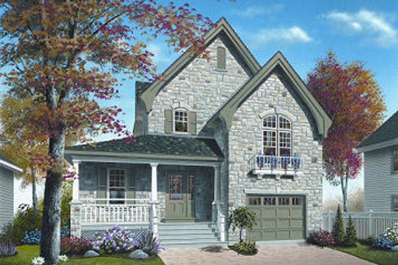 Dream House Plan - European Exterior - Front Elevation Plan #23-798
