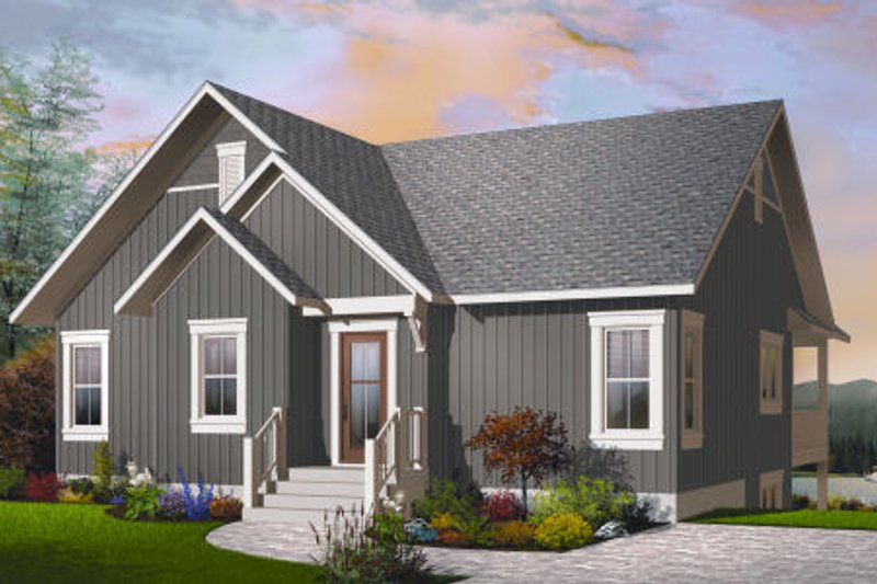 Bungalow Style House Plan - 2 Beds 1 Baths 1324 Sq/Ft Plan #23-2262