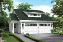 Dream House Plan - Craftsman Exterior - Front Elevation Plan #57-697