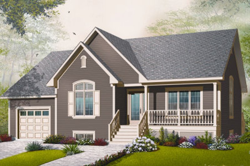 Traditional Exterior - Front Elevation Plan #23-2281 - Houseplans.com