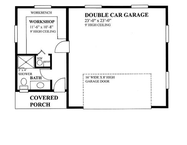 Cabin Floor Plan - Main Floor Plan #118-137