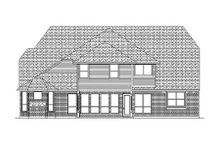 European Exterior - Rear Elevation Plan #84-431