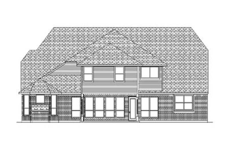 European Exterior - Rear Elevation Plan #84-431 - Houseplans.com
