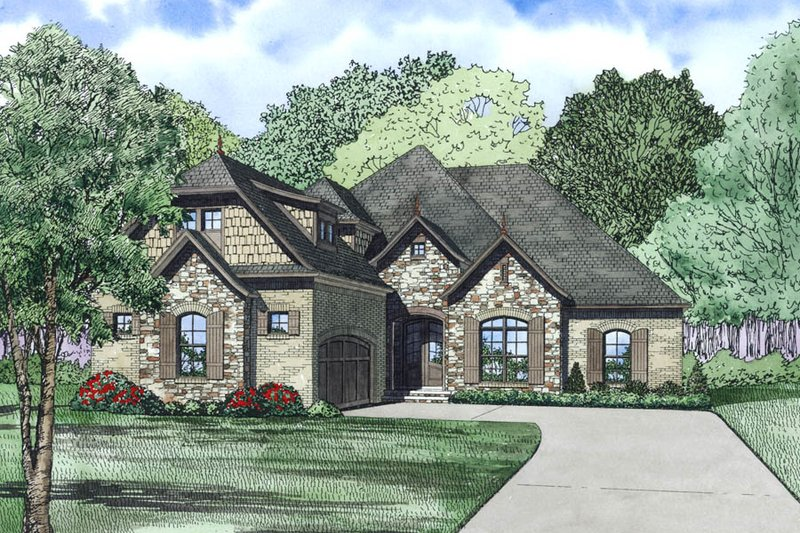 European Exterior - Other Elevation Plan #17-2490 - Houseplans.com
