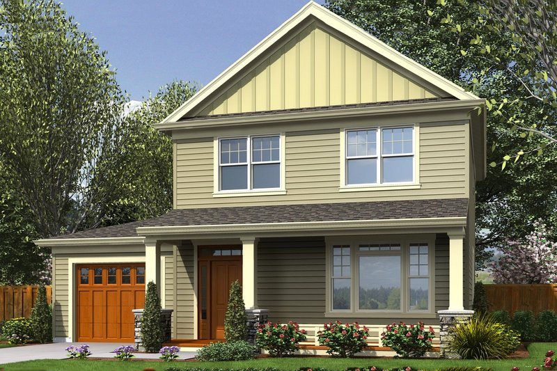 Craftsman Exterior - Front Elevation Plan #48-494