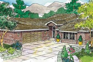 Architectural House Design - Traditional Exterior - Front Elevation Plan #124-734