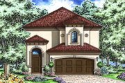 Mediterranean Style House Plan - 3 Beds 2.5 Baths 2891 Sq/Ft Plan #27-483 Exterior - Front Elevation