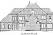 European Style House Plan - 4 Beds 3 Baths 3858 Sq/Ft Plan #413-116 Exterior - Rear Elevation