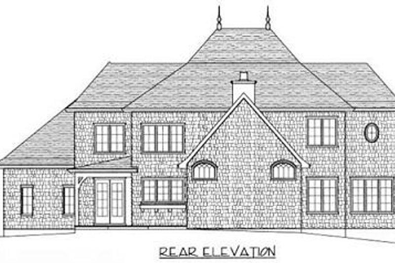 European Exterior - Rear Elevation Plan #413-116 - Houseplans.com
