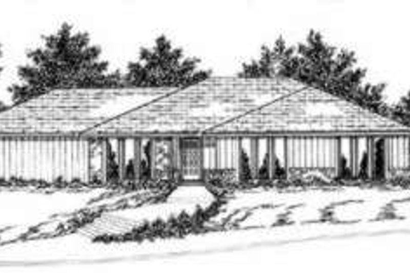Modern Exterior - Front Elevation Plan #36-419 - Houseplans.com