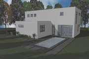 Modern Style House Plan - 3 Beds 2.5 Baths 2402 Sq/Ft Plan #910-1 Exterior - Rear Elevation