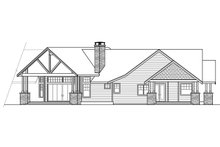 House Plan Design - Craftsman Exterior - Rear Elevation Plan #124-1014