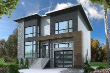Architectural House Design - Contemporary Exterior - Front Elevation Plan #23-2647