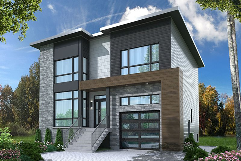 Contemporary Exterior - Front Elevation Plan #23-2647