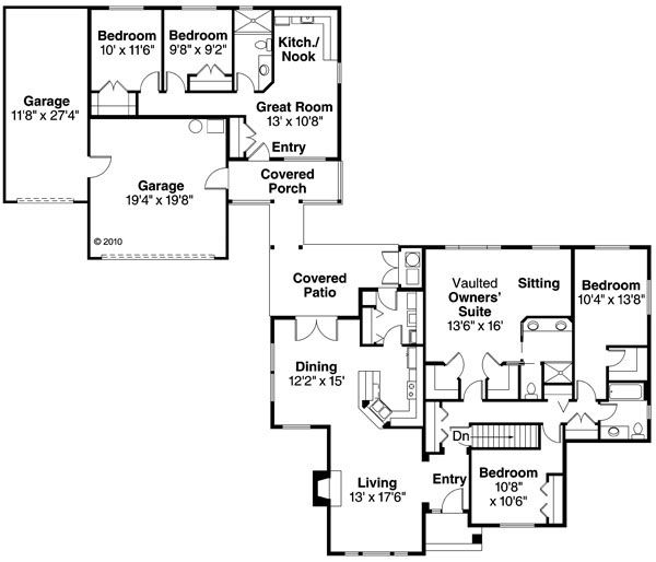 Traditional Floor Plan - Main Floor Plan Plan #124-857