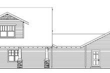 Home Plan - Bungalow Exterior - Rear Elevation Plan #124-736