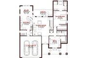 European Style House Plan - 4 Beds 3 Baths 2337 Sq/Ft Plan #63-316 Floor Plan - Main Floor Plan
